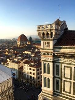 View of the Florence Cathedral from the Belltower.
